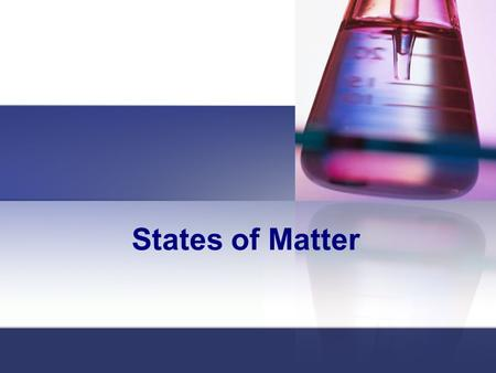 States of Matter. Matter Matter – anything that has mass and takes up space Everything around us Mass: measurement that reflects the amount of matter.