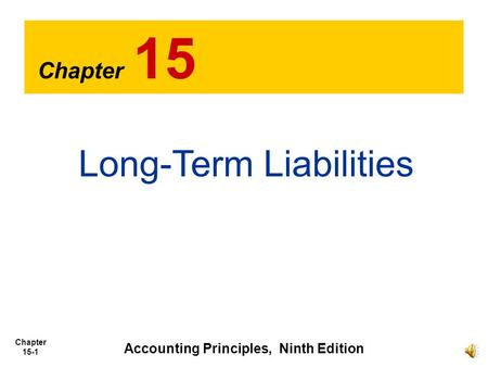 Accounting Principles, Ninth Edition