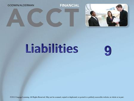 Learning Objectives 1. Describe the recording and reporting of various current liabilities. 2. Describe the reporting of long-term liabilities and the.