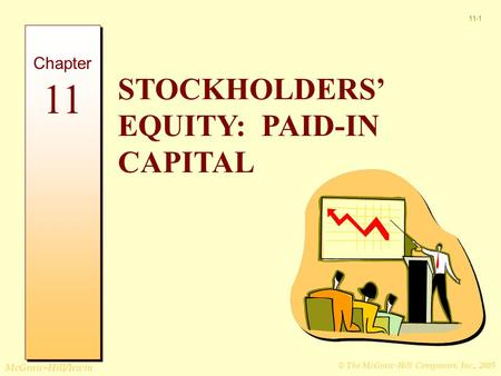 © The McGraw-Hill Companies, Inc., 2005 McGraw-Hill/Irwin 11-1 STOCKHOLDERS' EQUITY: PAID-IN CAPITAL Chapter 11.