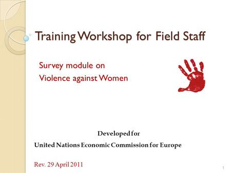 Training Workshop for Field Staff