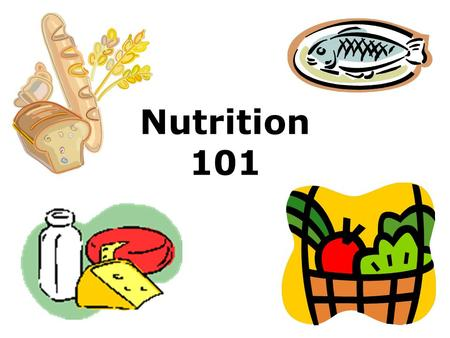 Nutrition 101. Do you recognize this? Do you follow this?