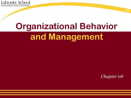 老贾老贾 Organizational Behavior and Management Chapter 08.