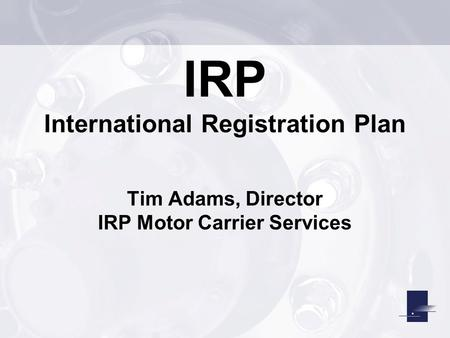 International Registration Plan