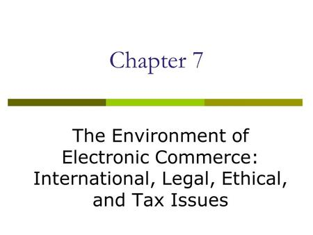 Introduction to taxation of e-commerce