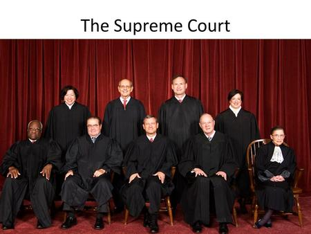 "The Supreme Court. Constitutional Origin Article III, §1, ""The judicial Power of the United States, shall be vested in one supreme Court, and in such."