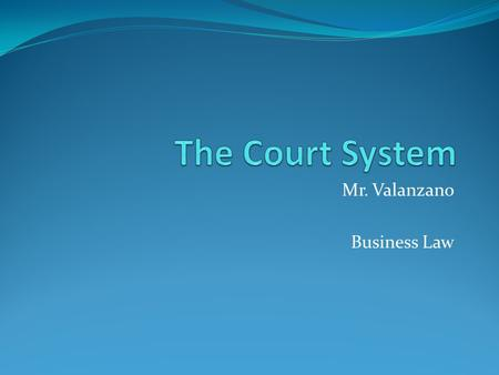 Mr. Valanzano Business Law. Dispute Resolution Litigate – taking a dispute to court In some cases, people decided to quickly to take a dispute to court.