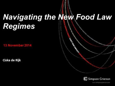 Navigating the New Food Law Regimes