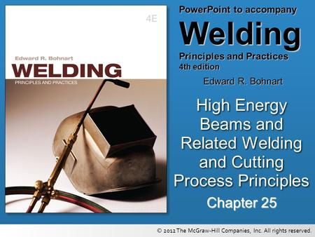 High Energy Beams and Related <strong>Welding</strong> and Cutting Process Principles