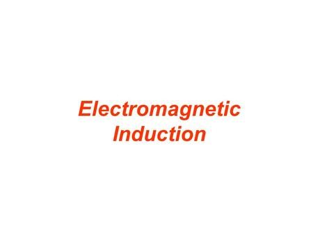Electromagnetic Induction. 21.7 Magnetic Fields Produced by Currents In 1820, H.C. Oersted discovered that a current in a wire caused a deflection in.