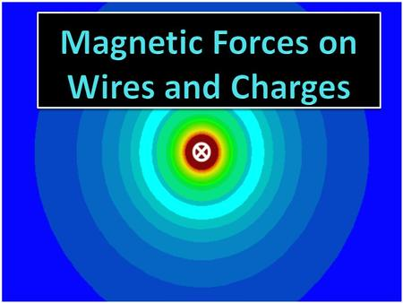 With permanent magnets opposite poles attract and like poles repel. As we have seen magnetic fields surround any current carrying wire. Therefore it stands.
