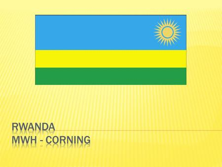  Rwanda, in east-central Africa, is surrounded by the Democratic Republic of the Congo, Uganda, Tanzania, and Burundi. 