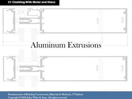 Aluminum Extrusions 21 Cladding With Metal and Glass