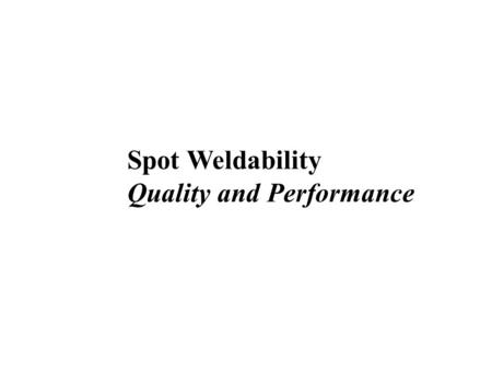 Quality and Performance
