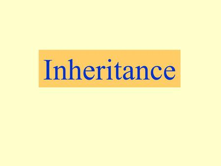 Inheritance. Some features are in two forms Some people have ear lobes and others do not. e.g.