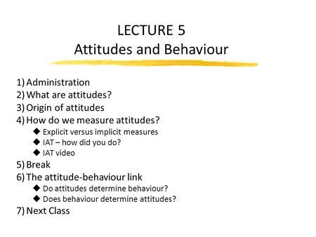 essay on attitude and behaviour Attitude-Organisation Behaviour
