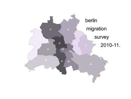 Berlin migration survey 2010-11.. berlin migration survey2010-11. berlin migration survey2010-11. Berlin migration and its political effects on immigrant.
