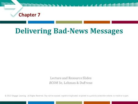 Delivering Bad-News Messages
