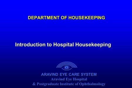 DEPARTMENT OF HOUSEKEEPING