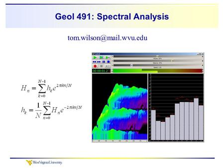 Geol 491: Spectral Analysis