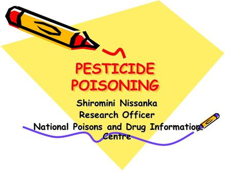 National Poisons and Drug Information Centre