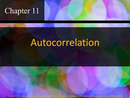 Chapter 11 Autocorrelation.