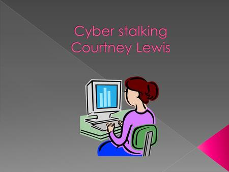  Cyber stalking is harassing people by threatening, monitoring, stealing someone's identity theft, etc.