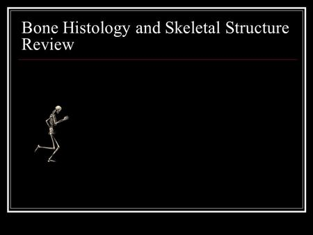 Bone Histology and Skeletal Structure Review. What is bone? Bone is living tissue that makes up the body's skeleton. There are three types of bone tissue,
