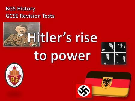 1) Did Hitler take power by force? NO NO NO!!!