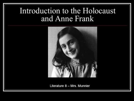 an introduction to the causes of the holocaust Introductions in order for the first paragraph of an essay to actually be a proper introduction (in other words, for it to fulfill the requirements of a proper introduction), it must do two things.