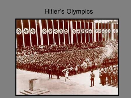 Primary resources for the 1936 (Nazi) Olympics?
