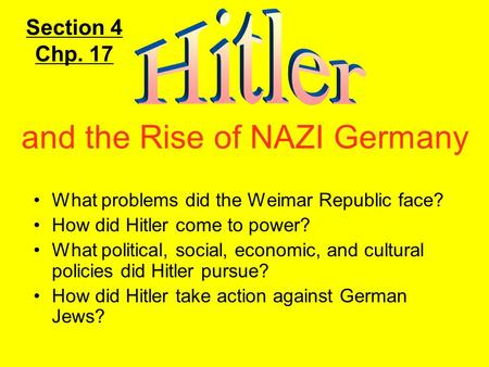 and the Rise of NAZI Germany