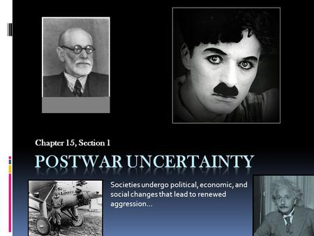 Postwar Uncertainty Chapter 15, Section 1