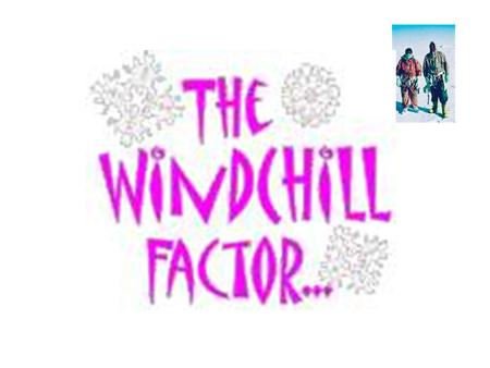 The wind chill factor is a combination of air temperature and wind speed that affects the freezing rate of exposed skin.