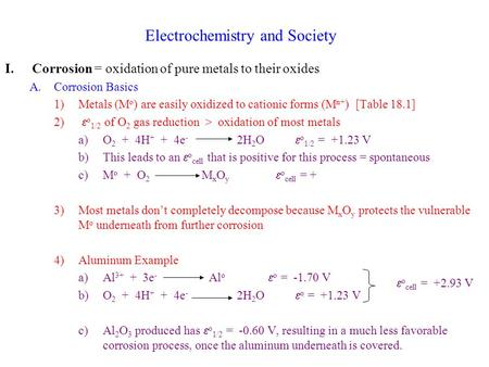 Electrochemistry and Society