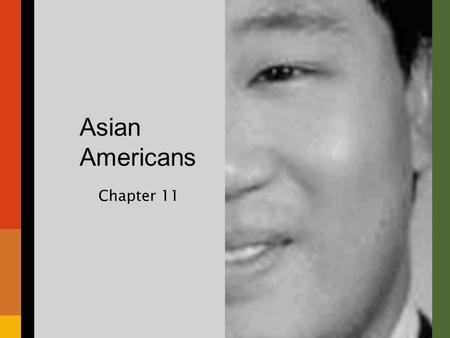 Chapter 11 Asian Americans. Chapter Overview I.Introduction II.Korean Americans III.Filipino Americans IV.Asian Indians V.Southeast Asian Americans VI.Hawaii.