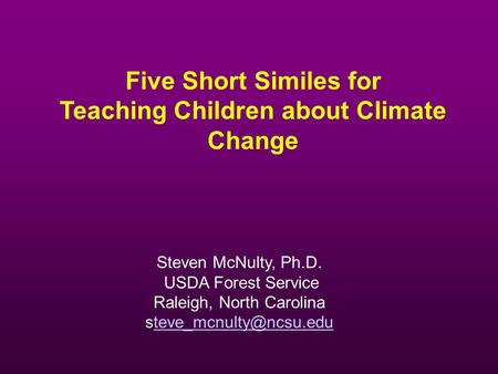 Teaching Children about Climate Change