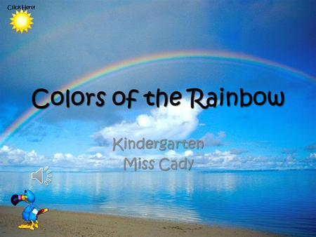 Colors of the Rainbow Kindergarten Miss Cady Click Here!