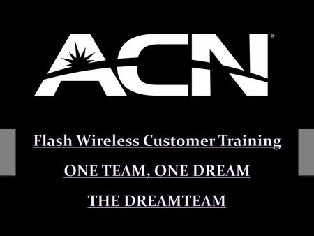 Flash Wireless Customer Training