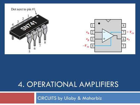 4. OPERATIONAL AMPLIFIERS CIRCUITS by Ulaby & Maharbiz.