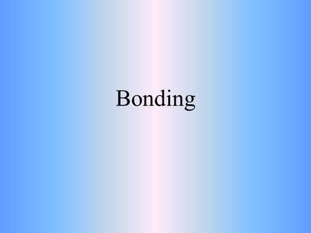 Bonding. Why do Atoms Bond? Atoms bond when their valence electrons interact Generally, atoms join to form bonds so that each atom has a full outermost.