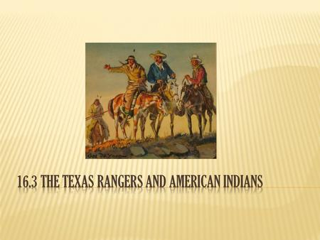  During the 1850's, hundreds of new settlers moved westward into Texas.  Many of these settlers moved onto the lands of the American Indians, creating.