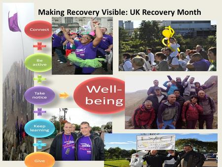 Making Recovery Visible: UK Recovery Month.