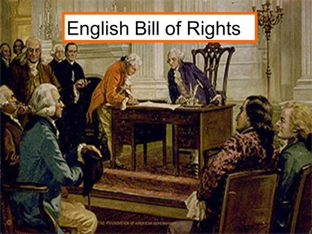 English Bill of Rights. 1.) Which of the freedoms from the English Bill of Rights are best described as individual rights? Check all that apply A. Freedom.