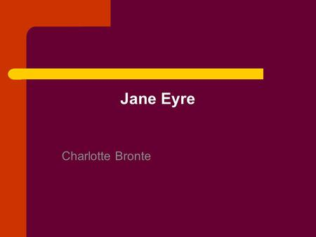 the characters and chapter summary of jane eyre by charlotte bronte 23 charlotte bronte's jane eyre: a literary analysis 30  the first  chapter is about some contradictory theories about 'character' in literary texts.