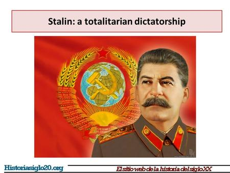 Stalin: a totalitarian dictatorship. Stalin defeated Trotsky after Lenin's death (1924-1927) Stalin's economic program  Quick industrialisation of a.