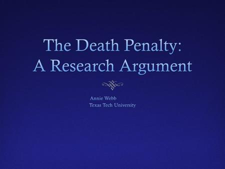 an analysis of the issues surrounding death penalty Capital punishment, united states constitution, death penalty,  complex tangle  of issues surrounding the death penalty and its constitutional viability  court  cases  outstanding original interpretation and analysis from the.