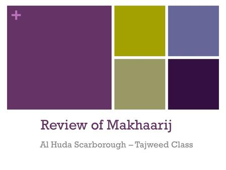 Al Huda Scarborough – Tajweed Class