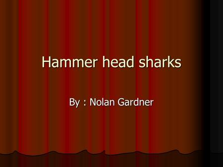 Hammer head sharks By : Nolan Gardner. Controlling body temperature scales control sharks body temperature. scales control sharks body temperature. How.