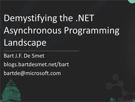Demystifying the .NET Asynchronous Programming Landscape